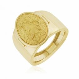 Bague en or jaune, motif camée