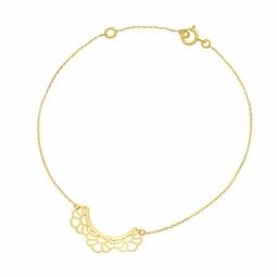 Bracelet en or jaune, dentelle