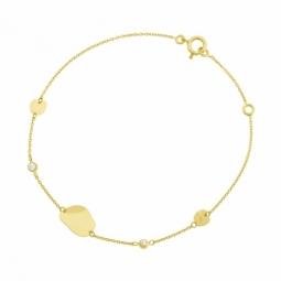 Bracelet en or jaune et oxydes de zirconium