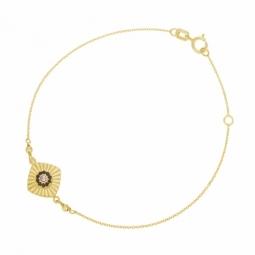 Bracelet en or jaune et cristaux de synthèse