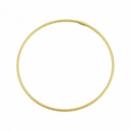 Bracelet jonc en or jaune, fil rond faceté 2 mm