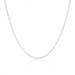 collier argent tour du cou avec pendabtif swarkof