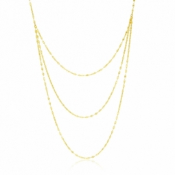 Collier en or jaune, multi chaînes