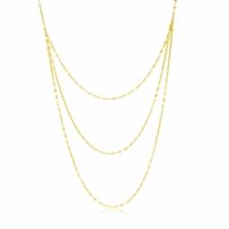 Collier en or jaune, multi chaînes