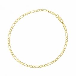 Bracelet en or jaune, maille cheval alternée 1-3