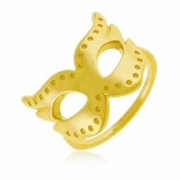 Bague en plaqué or, masque