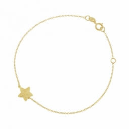 Bracelet en or jaune, étoile
