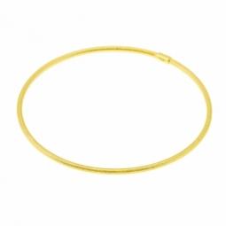 Bracelet jonc en or jaune mat