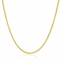 Collier en or jaune, maille palmier faceté 1 mm