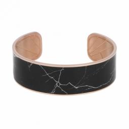 Bracelet jonc en acier rose et motif imprimé