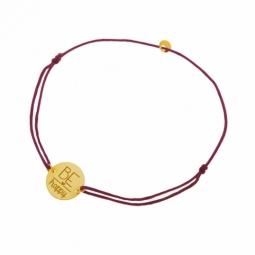 Bracelet cordon en or jaune,  Be happy