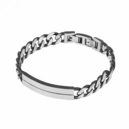 Bracelet en acier vieilli