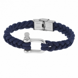 Bracelet en acier et cordon polyester