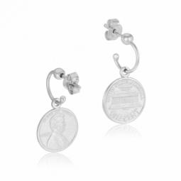 Boucles d'oreilles en argent rhodié
