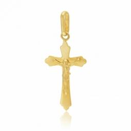 Croix en or jaune, Christ, grand  modèle