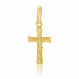 Croix en or jaune, Christ, petit modèle