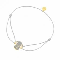 Bracelet cordon en or jaune et laque, Dumbo Disney
