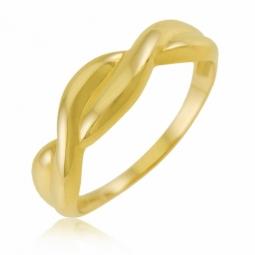 Bague en or jaune, torsadée