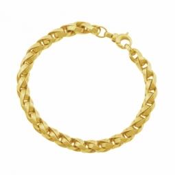 Bracelet en or jaune maille tressée