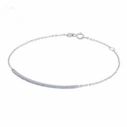 Bracelet en or gris et oxydes de zirconium bleus