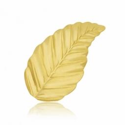 Broche en or jaune, feuille