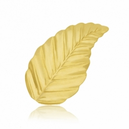 Broche en or jaune, feuille