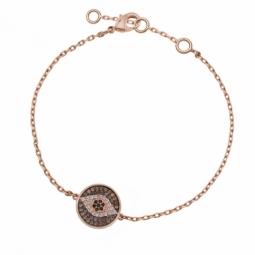 Bracelet en plaqué or rose et oxydes de zirconium
