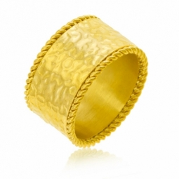 Bague en acier doré