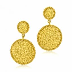 Boucles d'oreilles en acier doré