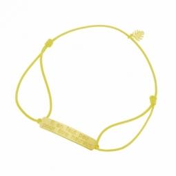 Bracelet cordon en or jaune, Il en faut peu pour être heureux, Le livre de la jungle Disney