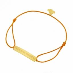 Bracelet cordon en or jaune, Nage droit devant toi, Nemo Disney
