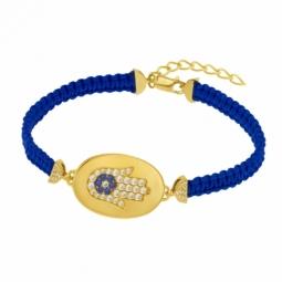 Bracelet en argent doré et oxydes de zirconium, main de Fatma