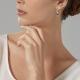 Boucles d'oreilles en or gris, hématite. - P