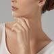 Boucles d'oreilles en or gris, saphir entourage diamants - P