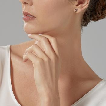 Boucles d'oreilles en plaqué or rose et oxydes de zirconium