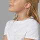 Boucles d'oreilles en argent rhodié, laque - P