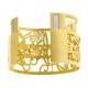 Bracelet jonc Méli Versa en acier doré, 30mm - C