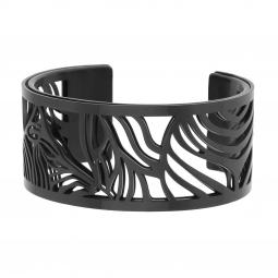 Bracelet jonc Méli Versa en acier noir, 30mm