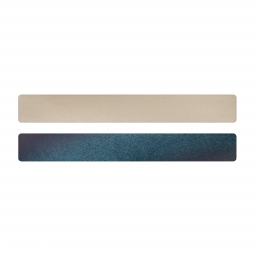 Simili cuir bleu-beige pour bracelet jonc Méli Versa 20mm
