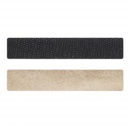 Simili cuir noir-cuivré pour bracelet jonc Méli Versa 30mm