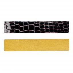 Simili cuir jaune-noir pour bracelet jonc Méli Versa 30mm