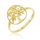 Bague en or jaune, arbre de vie - A