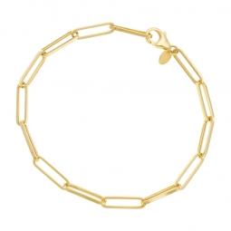 Bracelet or jaune maille rectangle allongée