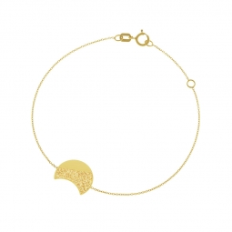 Bracelet or jaune et laque pailletée