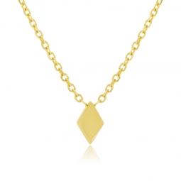 Collier or jaune, motif losange