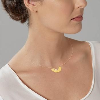 Collier en plaqué or, oxydes de zirconium