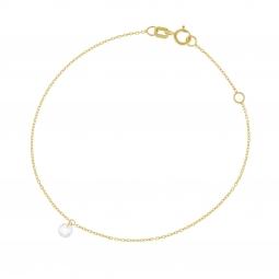 Bracelet or jaune, oxyde de zirconium