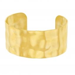 Bracelet jonc en acier doré