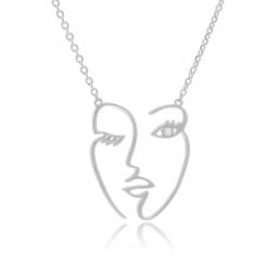 collier 2 anneaux entrelacés manege a bijoux