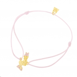 Bracelet cordon rose en or jaune et laque, Daisy Disney